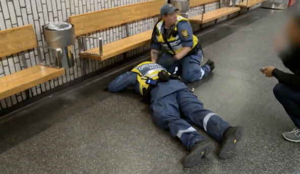 Swedish security guards brutally attacked