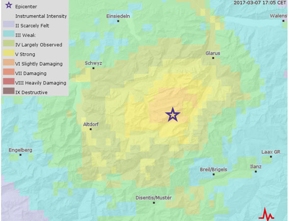 Switzerland earthquake