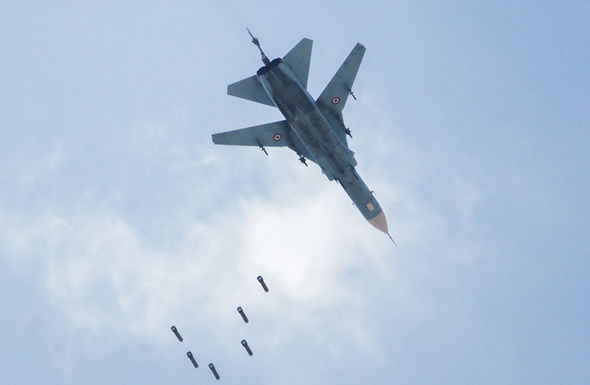 Syrian fighter jet increasing aggression