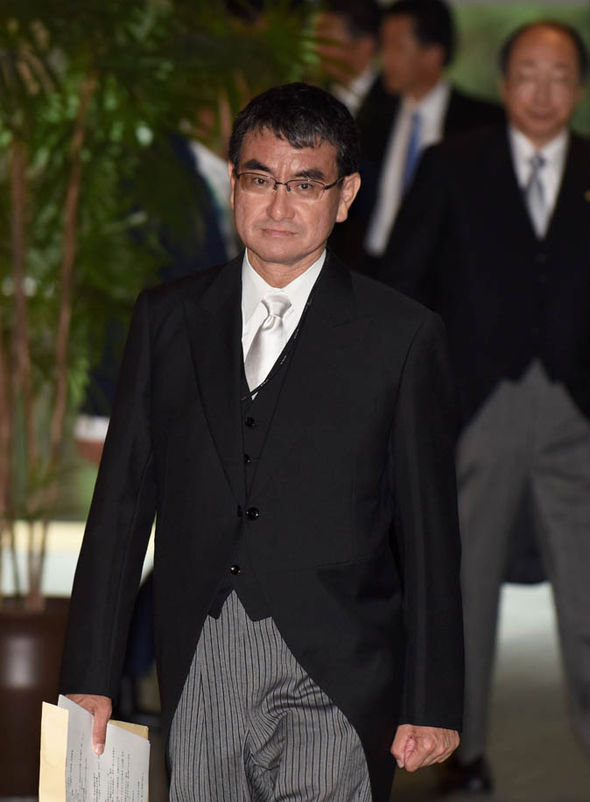 New Japanese foreign secretary Taro Kono known for links to US | World | News | Express.co.uk