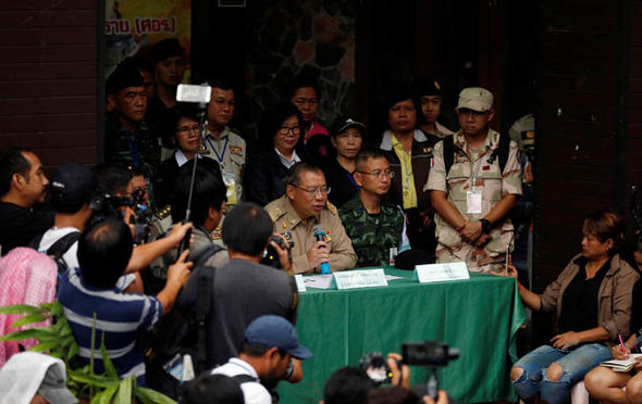 Thailand governor trapped boys cave latest updates