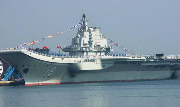 The Liaoning, China's only aircraft carrier, has been patrolling waters close to Taiwan