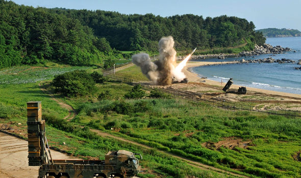 The US Army and South Korean's military drills