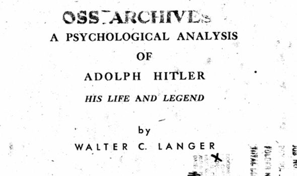 The United States conducted a psychological analysis of Hitler