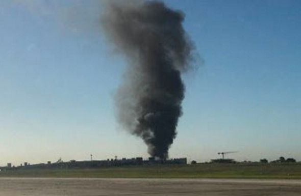 The crash was seen from Melbourne's essendon airport