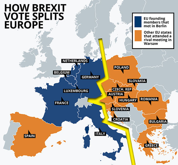 MAPPED How Brexit has FRACTURED EU countries leading