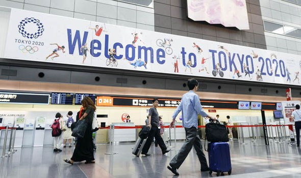 Welcome to Tokyo sign at airport