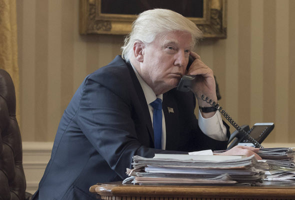 Donald Trump spoke on the phone to Vladimir Putin on Saturday