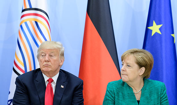 Trump slaps down Merkel