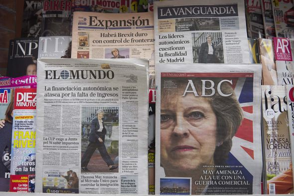 Mrs May made headlines worldwide today after her Brexit speech