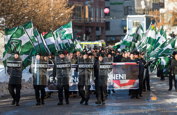 The Neo Nazi Nordic Resistance movement is making its views known