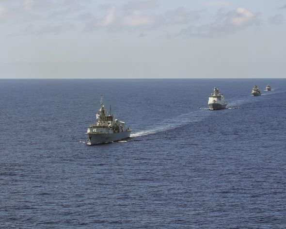 UK shows off maritime strength