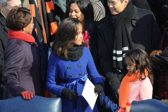 Sasha and Malia Obama grew up in the White House pictured here at the 2008 inauguration