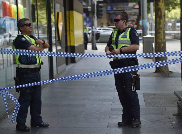 Victoria police at the scene