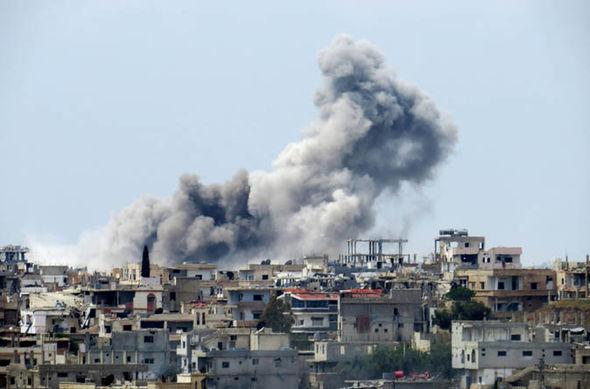 Syrian military airstrikes