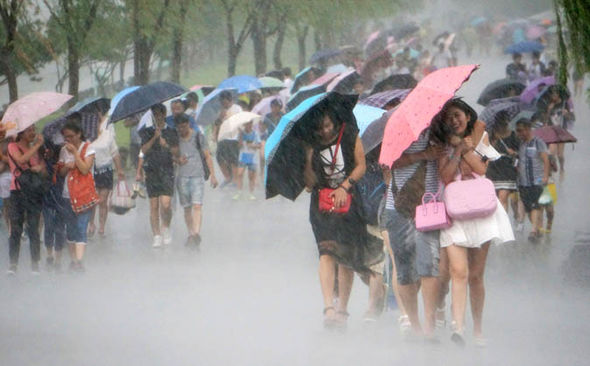 china typhoon severe rain