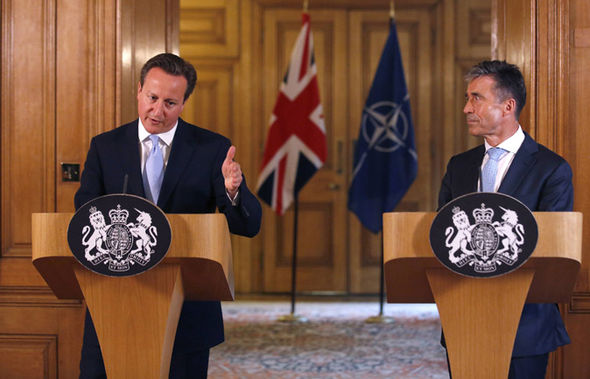 Cameron and the former NATO chief