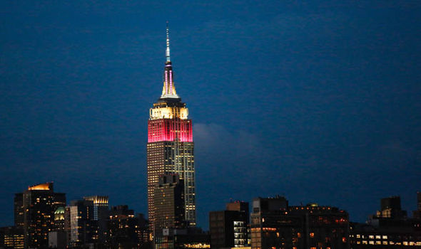 The Empire State Building was lit in Qatar's colours