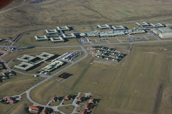 RAF Mount Pleasant, which was expanded during the 1980s following the conflict with Argentina