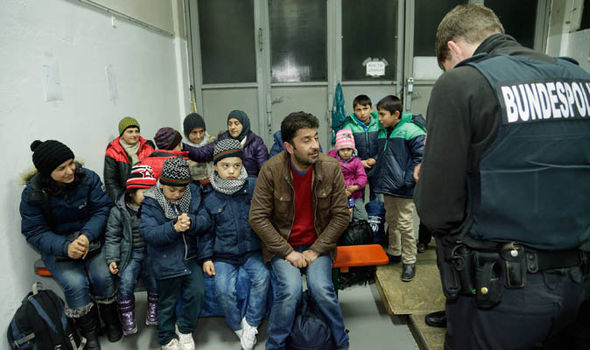 Refugees being processed in Germany