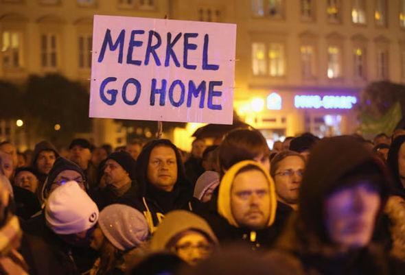 German anti-migrant protests