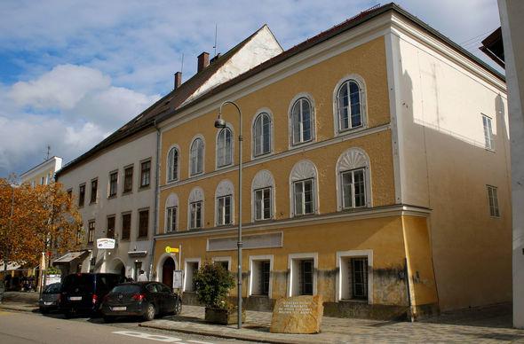 The three-storey house where Hitler was born