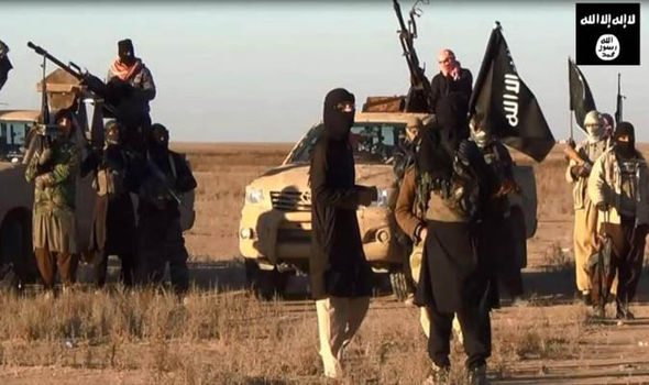 ISIS fighters in the desert