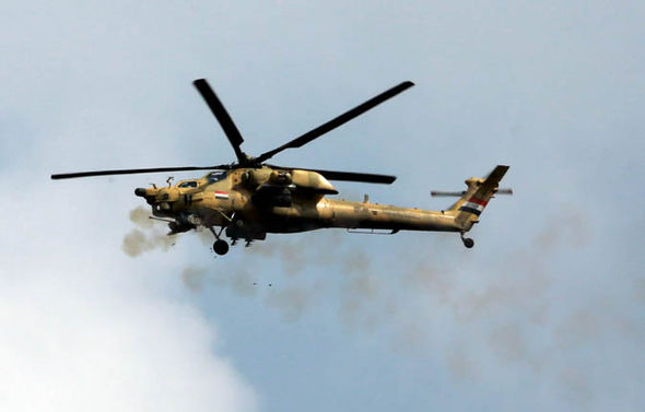 Iraqi Army attack helicopter