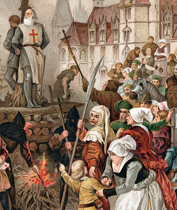 Dozens of the Knights Templar were executed