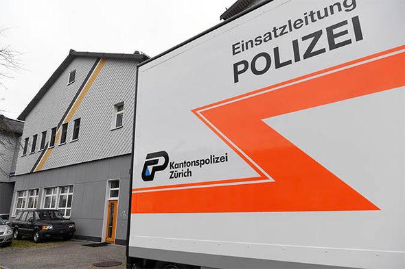 Police investigate the mosque