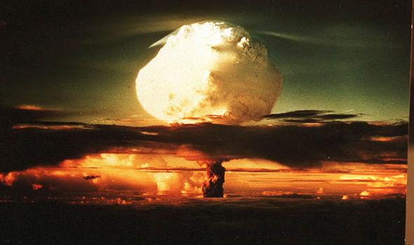 A nuclear explosion