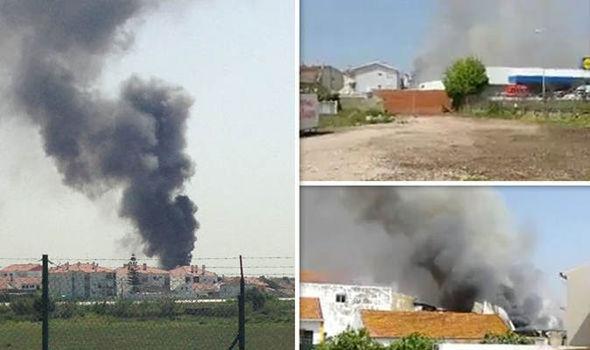 Smoke from plane crash
