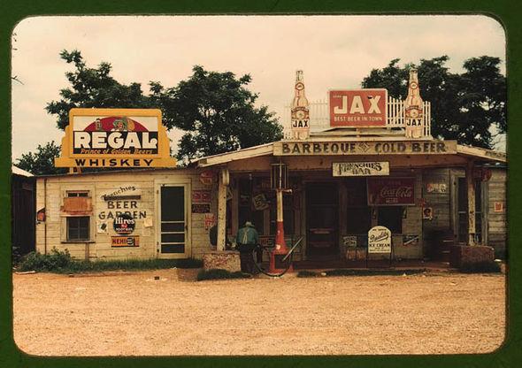 A cross roads store,, juke joint, & gas station