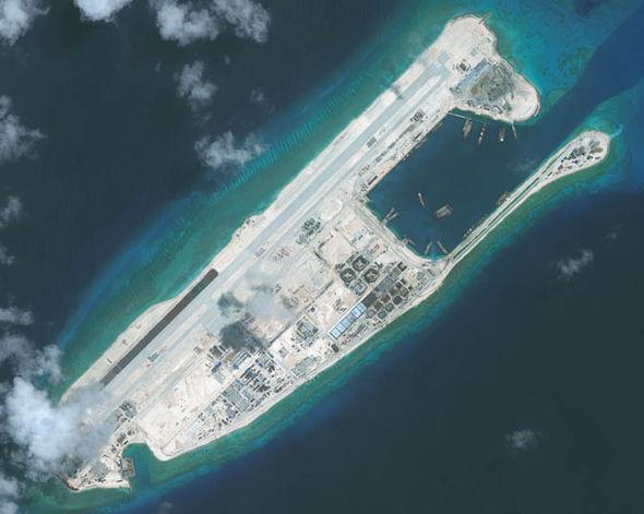 Airstrip on satellite photo