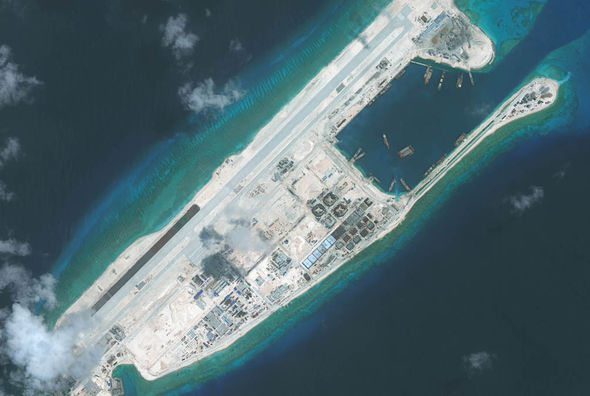 South China Sea - artificial island