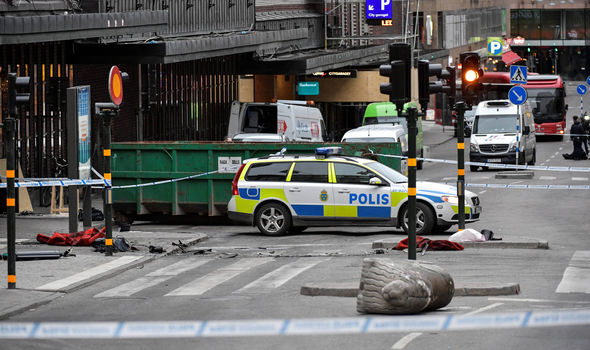 Aftermath of Sweden terror attack