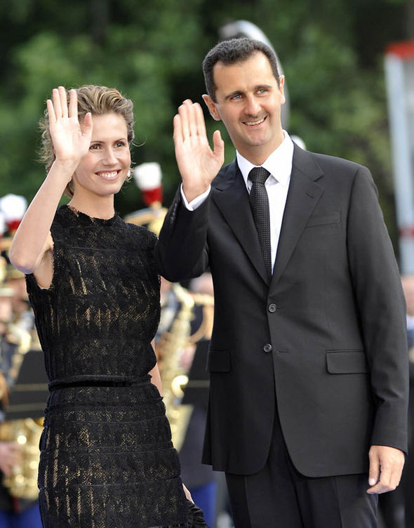 Bashar al-Assad and his wife Asma al-Assad