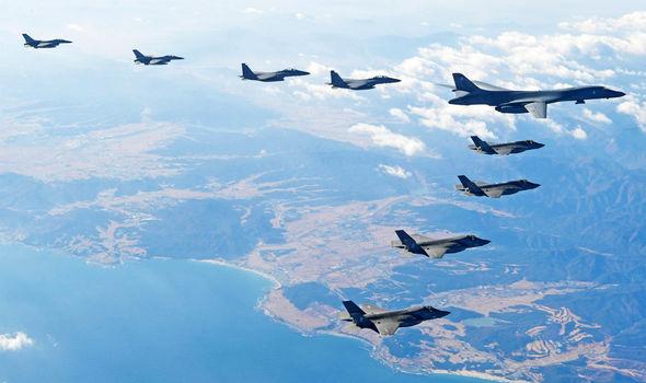 US warplanes taking part in Vigilant Ace