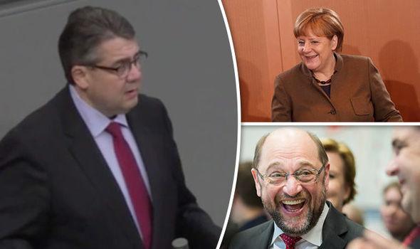Sigmar Gabriel, Angela Merkel, Martin Schulz