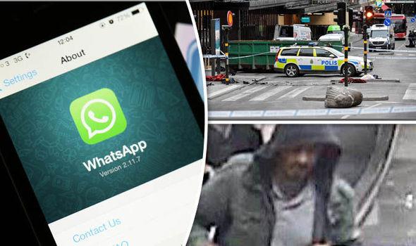 Whatsapp, Stockholm terror attack scene