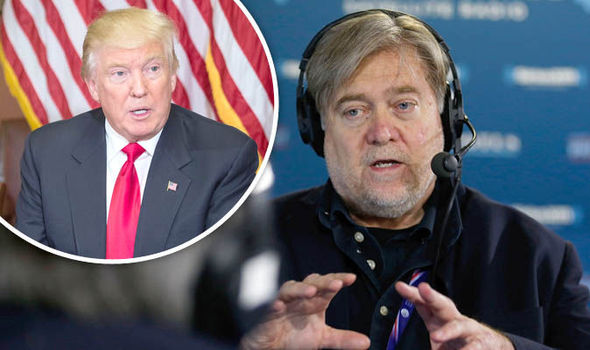 Image result for Images of Steven Bannon and Trump