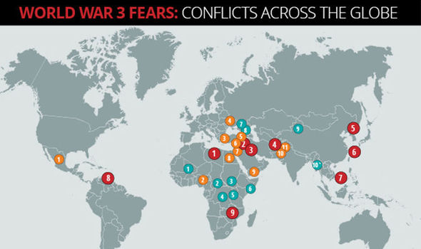 the world conflict map