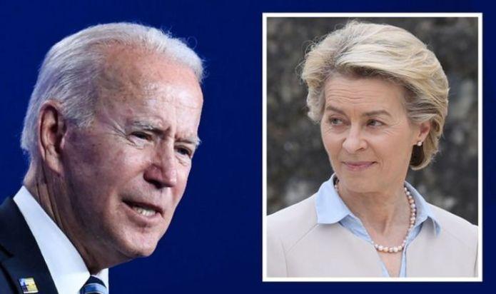 Joe Biden furious at 'protectionist' EU powergrab – President rages at plot to 'target' US