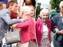 June Whitfield is absolutely delighted to receive a damehood at Buckingham Palace images 1
