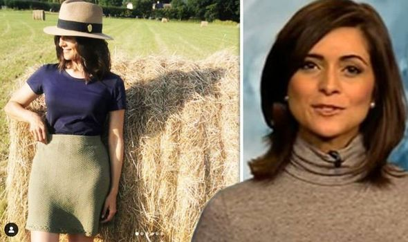 Lucy Verasamy: ITV weather star flaunts legs as she soaks up the sun in skintight skirt
