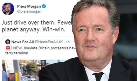 'Just drive over them' Piers Morgan sparks controversy over comments on climate protesters
