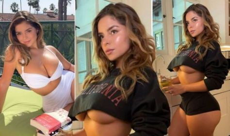 Demi Rose sparks frenzy with major underboob in barely-there top as she teases derriere