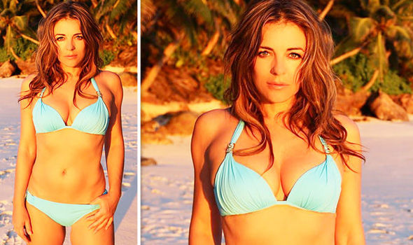e49b02f3448d2 Elizabeth Hurley Instagram: Star flaunts eye-popping cleavage in plunging  bikini 'So hot!' By Daily Express :: Celebrity ...