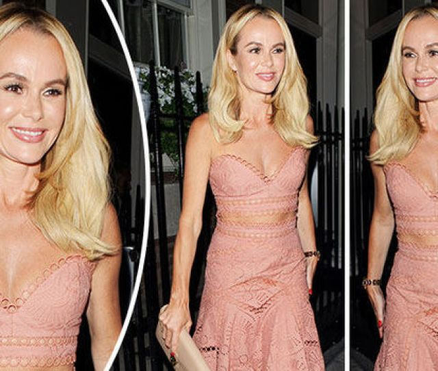 Amanda Holden Dazzled In A Pink Two Piece