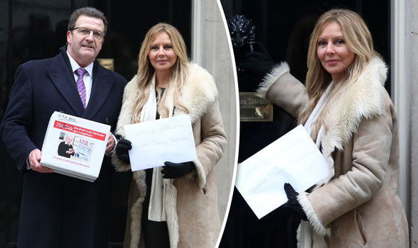 Carol Vorderman George Johnny Johnson
